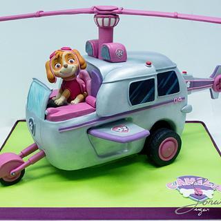Skye Helicopter Cake - Cake by Soraia Amorim