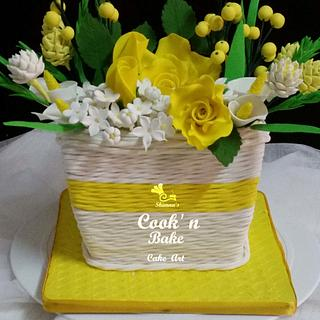 Dazzling Yellow Bouquet Cake...