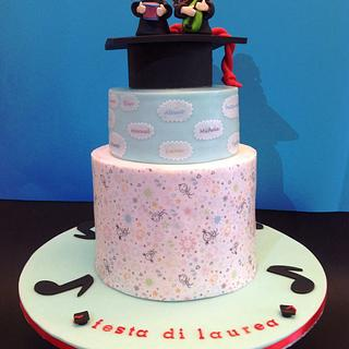 Sing Me A Happy Song Grad Cake