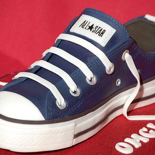 Leather Converse Cake - Cake by Lesley Wright