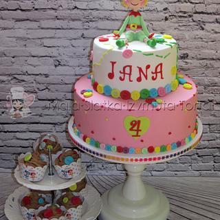 Holly Sleighbells Lalaloopsy Cake