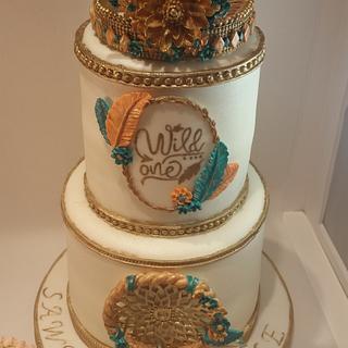 "Boho ""Wild One"" 1st birthday & smash cakes"