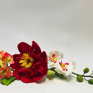 Flores en azúcar silvestre