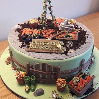 Allotment Cake - Cake by Cutabovecakes