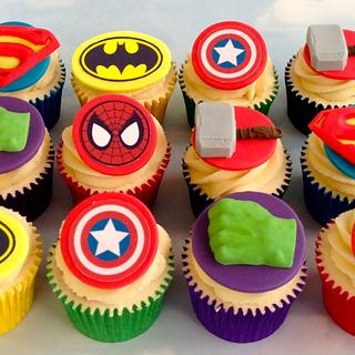 Marvel themed cupcakes
