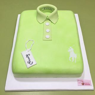 Whipped cream Polo Shirt  - Cake by Michelle's Sweet Temptation