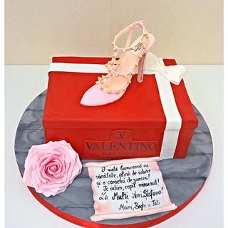 Valentino Shoe Box - Cake by Irina-Adriana