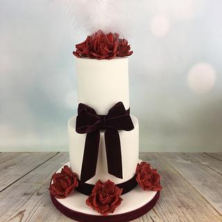 Mini wedding cake anniversary cake