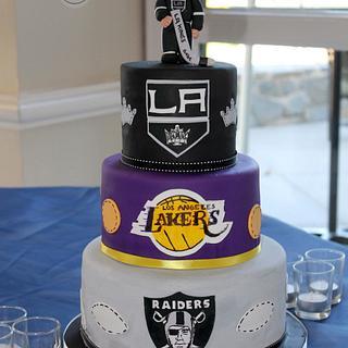 California sports Groom's cake - Cake by Sarah F
