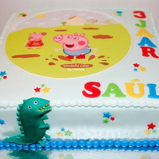 George & Peppa Pig - Cake by Vanessa
