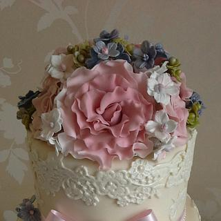 Vintage Lace and Roses
