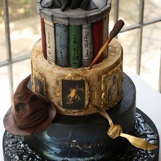 Snape (Harry Potter) Cake - Cake by Sihirli Pastane