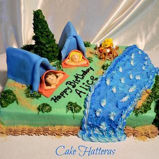 Happy Little Campers - Cake by Donna Tokazowski- Cake Hatteras, Hatteras N.C.