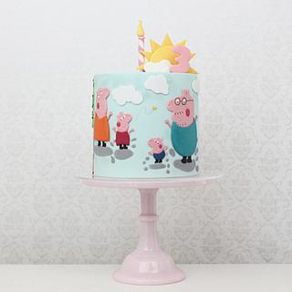 Peppa Pig Family Birthday Cake