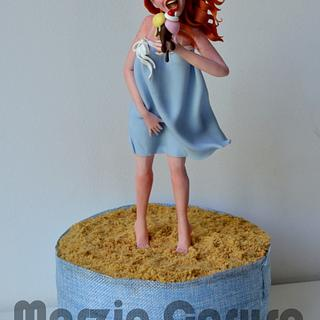 Summer girl - Cake by Marzia Caruso cake design lab