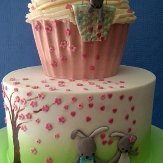 Bunny Family Cake