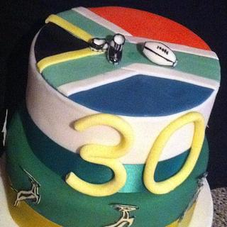 African Rugby Cake