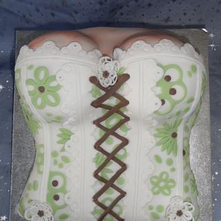 Flowered bustier cake - Cake by Mandy