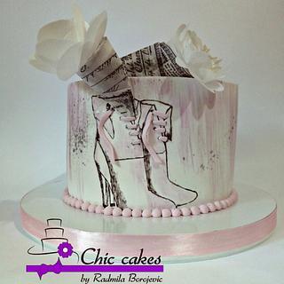 Birthday cake for the lady - Cake by Radmila