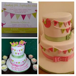 christening cake design based on the invite  customer designed