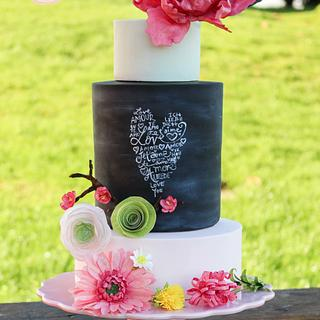 Wafer Paper Spring Wedding Cake