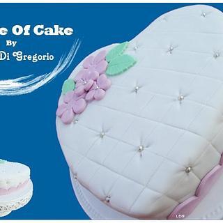 Heart cake, sugar paste