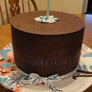 Simple Ganache Birthday Cake