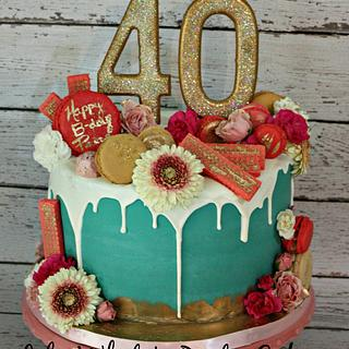 Happy 40th Birthday Paige! - Cake by Lily White's Party Cakes