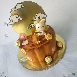 Mooncake Moneycake - Cake by Sugar Snake Cake