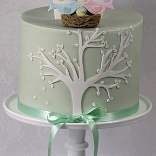 Bird Box Baby Shower Cake
