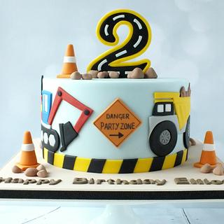 Diggers - Cake by Louise Jackson Cake Design