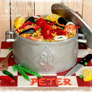 Paella cake