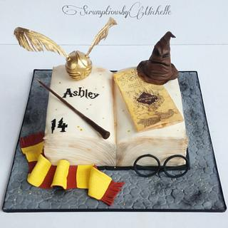 Harry Potter open book cake