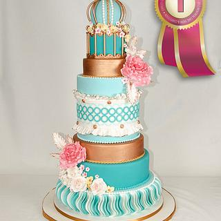 the no.1 wedding cake in the Montreal cakeshow 2012