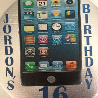 """Jordon's 16th Birthday Cake"""