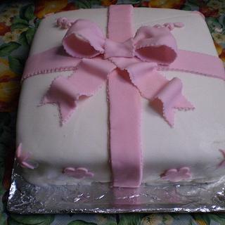 Wilton Course Three Final Cake-Gift Cake