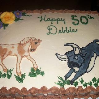 A Bull & Pony Birthday - Cake by BettyA