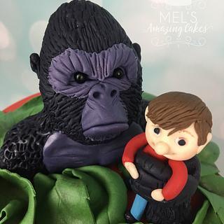 King Kong and Godzilla cake