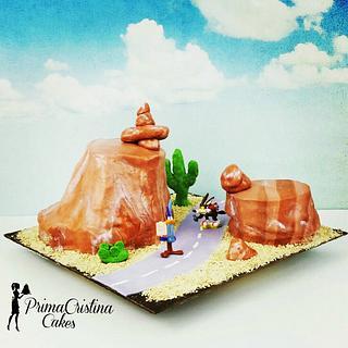 Road Runner Looney Tunes Birthday - Cake by PrimaCristina