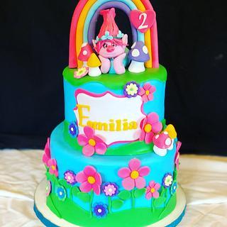 Troll Fondant Birthday Cake