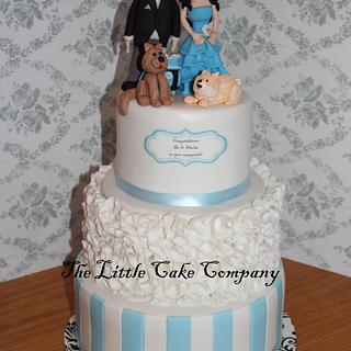 engagement party cake
