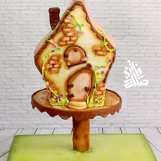 Fairy tale house cake - Cake by Faten_salah