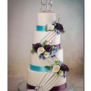The Draped Bouquet  - Cake by Jan Dunlevy