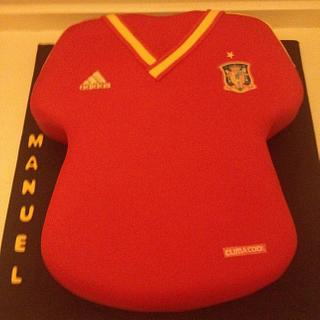 Spanish Football Jersey  - Cake by icedtouchcakes