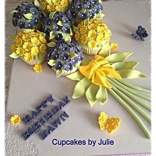 Primrose Cupcake Bouquet Board