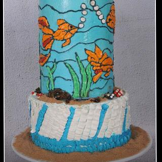 Life under the sea - A Buttercream - Caker buddies collaboration