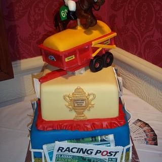 Horse trainer AND trailer builder- only one man can have a cake like this...