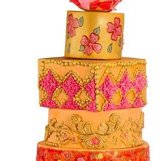 Modern wedding cake !