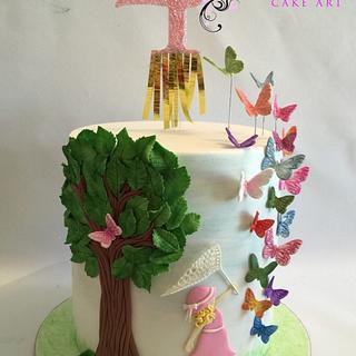 Catching Butterflies - Cake by D-licious Cake Art