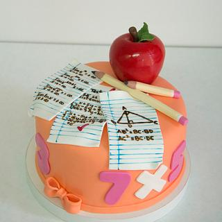 Cake for a math teacher